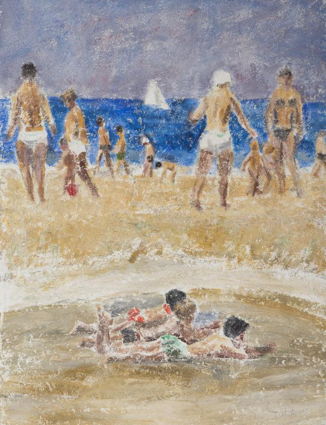 25Playa, 1985-97 Técnica mixta sobre lienzo de 65 x 50 cm. (FILEminimizer)