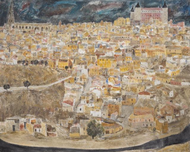 29Toledo, 1985-87 Técnica mixta sobre lienzo de 142 x 182 cm. (FILEminimizer)