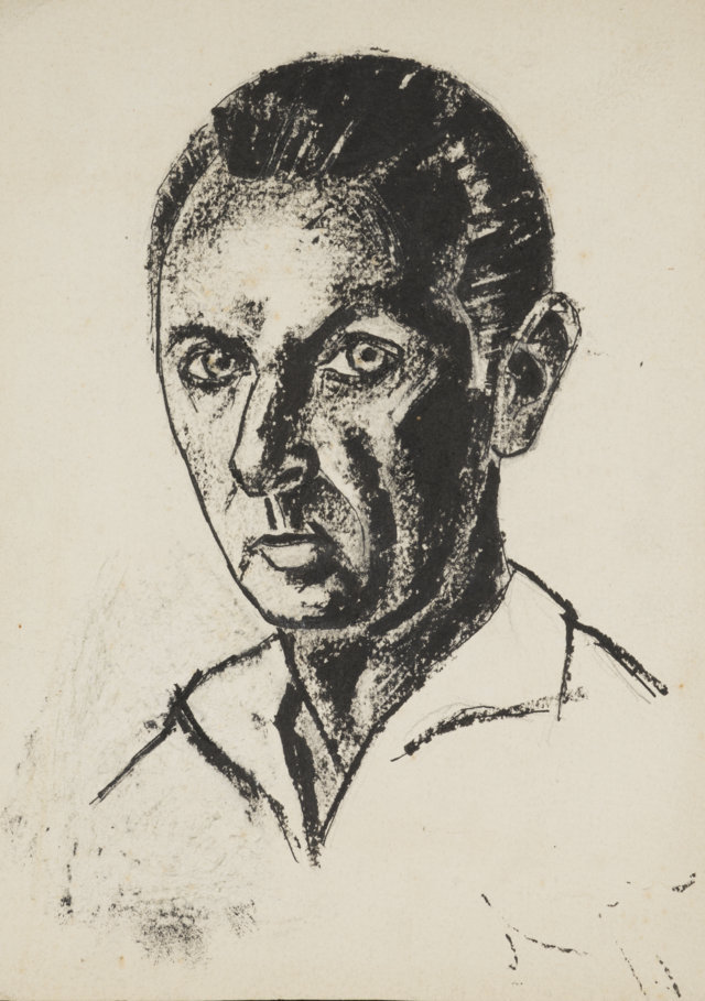 2cAutoretrato, 1948, Tinta de 30 x 21 cm. (FILEminimizer)