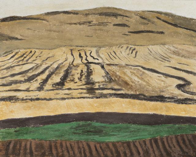 33Tierras quemadas,  1990 Técnica mixta sobre lienzo de 73 x 92 cm, (FILEminimizer)