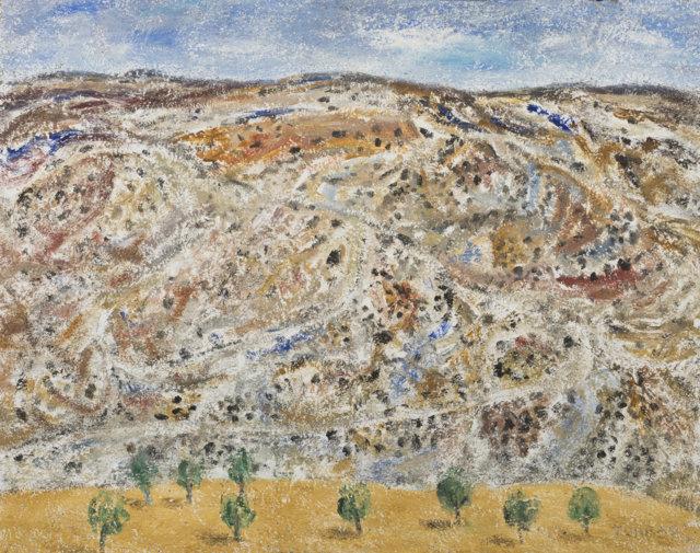 43b Paisaje de Teruel, 2000 Técnica mixta sobre lienzo de 65 x 81 cm. (FILEminimizer)
