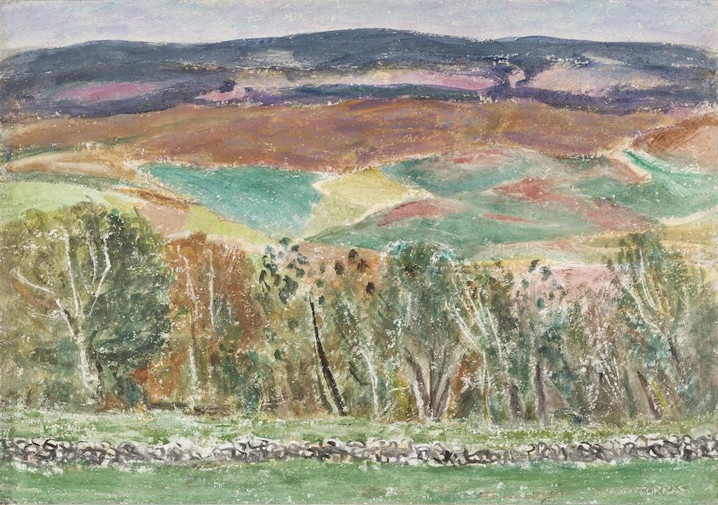 48Paisaje de Teruel, 2003 Técnica mixta sobre lienzo de 73 x 92 cm.
