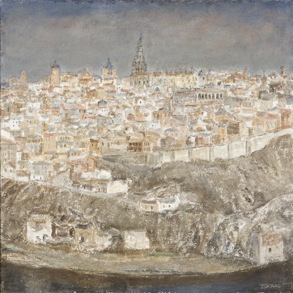 50Vista de Toledo, 2003  Técnica mixta sobre lienzo de 92 x 92 cm.