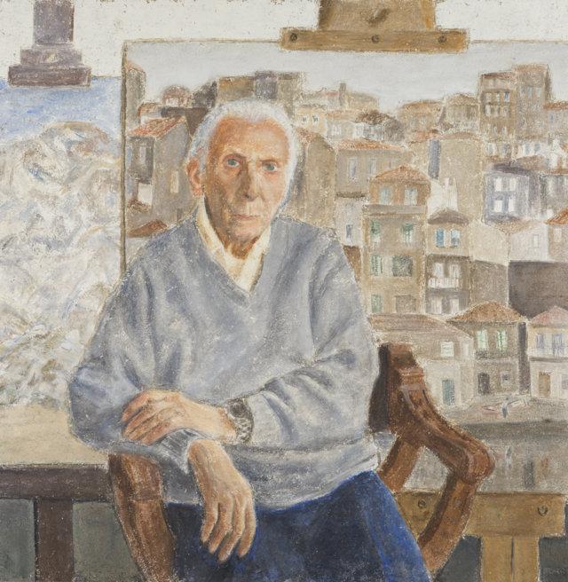 56Autoretrato, 2004 Técnica mixta sobre lienzo de 100 x 100 cm. (FILEminimizer)