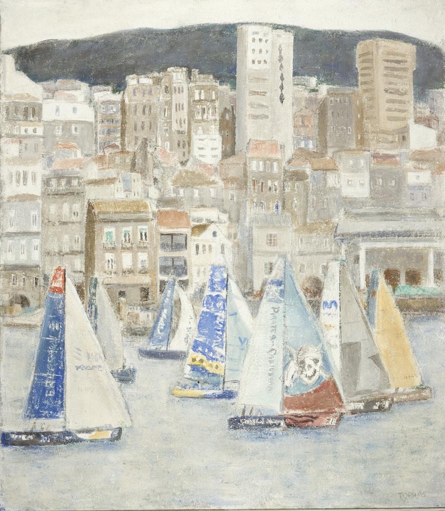 61Volvo Ocean Race, 2005  Técnica mixta sobre lienzo de 130 x 114 cm.