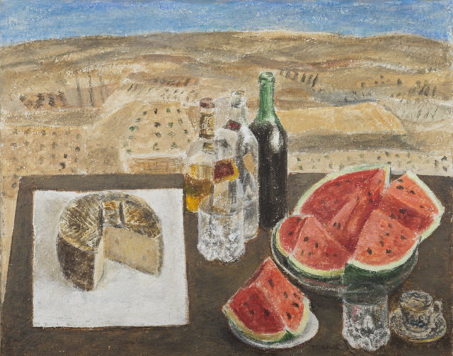 Bodegón, 2014 Técnica mixta sobre lienzo de 65 x 81 cm. (FILEminimizer)