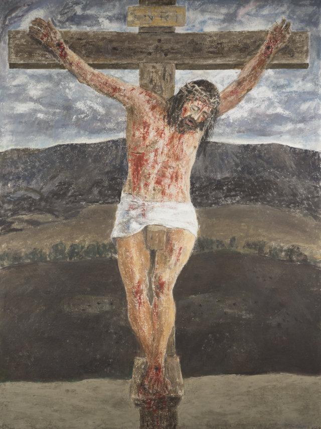Cristo, 2011 Temple sobre lienzo de 195 x 146 cm. (FILEminimizer)